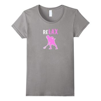 Girl's Lacrosse T-shirt reLax Lacrosse Player Sticks Shirt