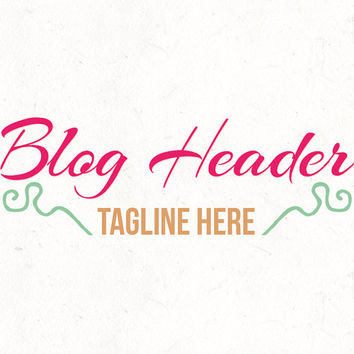 Bold Blog header design template | Business Professional Logo | instant download | digital download | psd file | DIY