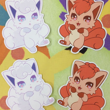 Vulpix Sticker Large Kawaii Pokemon Alola Sun and Moon Fox Vinyl