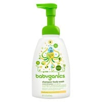 Babyganics Baby Shampoo + Body Wash, Chamomile Verbena - 16oz Pump Bottle