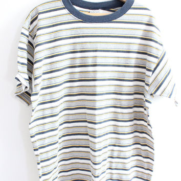 Baggy Basic Striped 90s T-Shirt