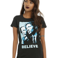 The X-Files Believe Girls T-Shirt