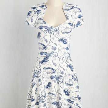 Ooh La La Lady Dress in Maritime
