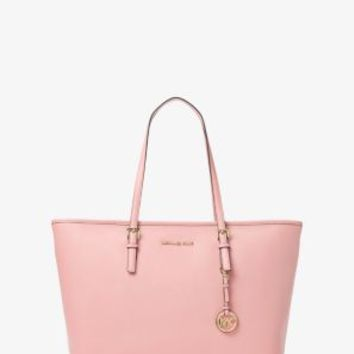 Jet Set Travel Medium Saffiano Leather Top-Zip Tote | Michael Kors