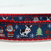 Christmas Dog Collar, Santa Christmas Cow