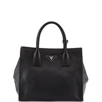 Prada Daino Tote Bag, Black (Nero)