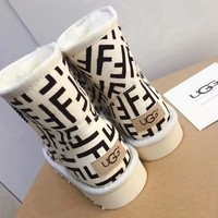 UGG /Fendi Warm snow boots-1