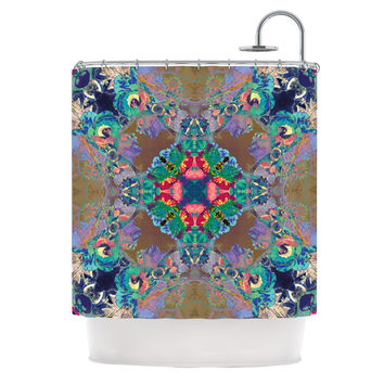"Danii Pollehn ""Flowery"" Floral Kaleidoscope Shower Curtain"