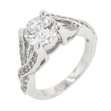 Brilliant Twist Engagement Ring Size 8
