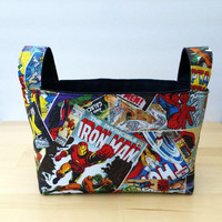 Super Heroes Medium Fabric Basket Storage Bin