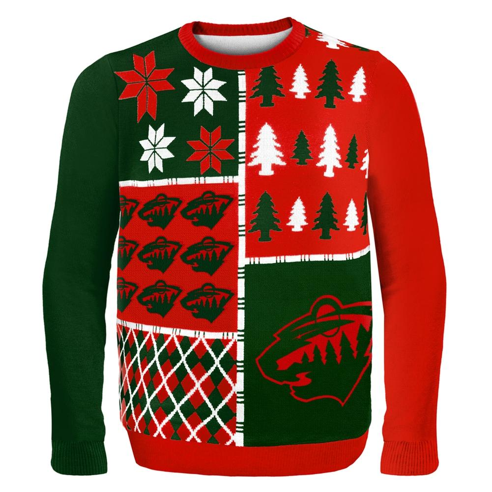 Minnesota Wild - Busy Block Ugly Sweater from Old Glory | Ugly