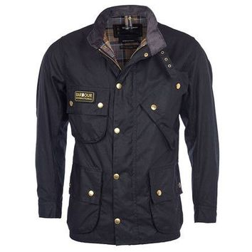Barbour Intl Original Wax Jacket Black