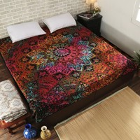Indian Mandala Tapestry Hippie Home Decorative Tapestries Boho Beach Towel Yoga Mat Bedspread Table Cloth 200x148cm