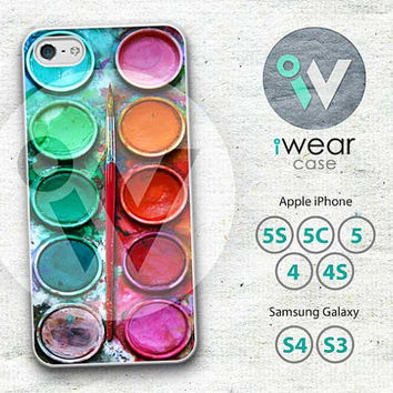 Watercolor paint iPhone 4 Case,watercolor paint box iPhone 4 4g 4s Hard Case,painting box cover skin case for iphone 4/4g/4s case