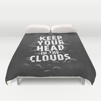 Keep Your Head in the Clouds Duvet Cover by Zeke Tucker