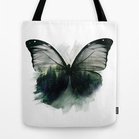 Double Butterfly Tote Bag by Cafelab