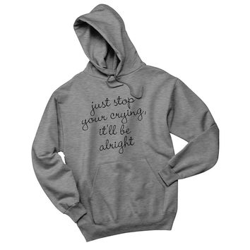 """Harry Styles """"Sign of the times - Just stop your crying, it'll be alright."""" Unisex Adult Hoodie Sweatshirt"""