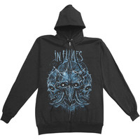In Flames Men's  Triple Jester Zippered Hooded Sweatshirt Black