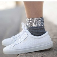 Buy ULGA Sequined Socks | YesStyle