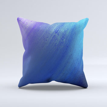 Pastel Blue Surface Ink-Fuzed Decorative Throw Pillow