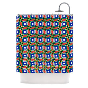 "Bruce Stanfield ""South Africa"" Multicolor Shower Curtain"