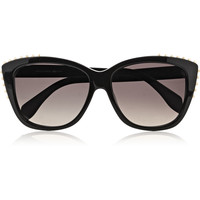 Alexander McQueen - Studded cat eye acetate sunglasses
