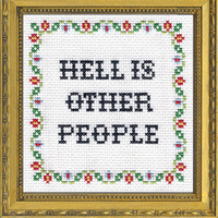 Hell Is Other People | Subversive Cross Stitch