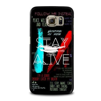 twenty one pilots stay alive samsung galaxy s6 case cover  number 1