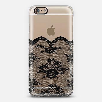 Black Romantic Lace Transparent iPhone 6 case by Organic Saturation | Casetify