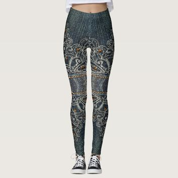 Denim Gems Leggings
