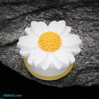 Cutesy Daisy Flower Ear Gauge Plug