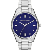 Michael Kors Mid-Size Silver Color Stainless Steel Blake Three-Hand Glitz Watch