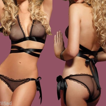 Brand new Lace Sexy Women Lingerie Bra G-String Nightwear Knickers Underwear Sleepwear Set = 1932253188