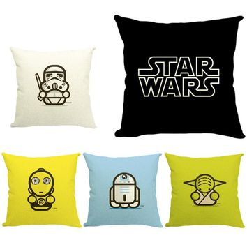 Star Wars Fashion Cushion Cute Cartoon Home Decorative Cushion Pillow Home Decor Throw Pillow Fashion European Cushion