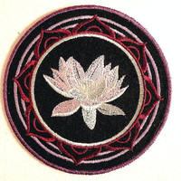 Lotus Blossom Iron on Patch
