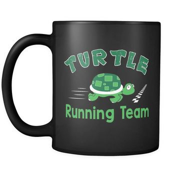 Funny Runners Mug Turtle Running Team 11oz Black Coffee Mugs