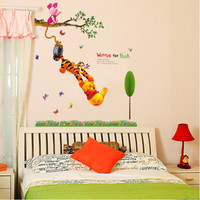 Winnie the pooh cartoon children bedroom background decoration of the third generation environmental protection wall stickers SM6