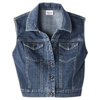 Mossimo Supply Co. Juniors Cropped Denim Vest - Assorted Colors