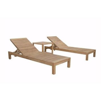 Anderson Teak SouthBay Glenmore Lounger (SET-276)