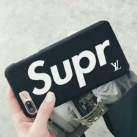 Supreme x LV Fashion iPhone Phone Cover Case For iphone 6 6s 6plus 6s-plus 7 7plus hard shell G-AGG-CZDL