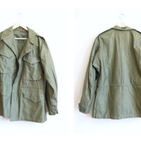 Vintage Military Field Jacket  M 1943 Military Jacket by UFOTHRIFT