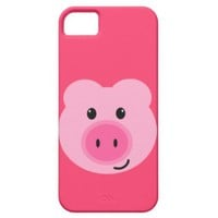Cute Pink Pig iPhone 5 Case iPhone 5 Case from Zazzle.com