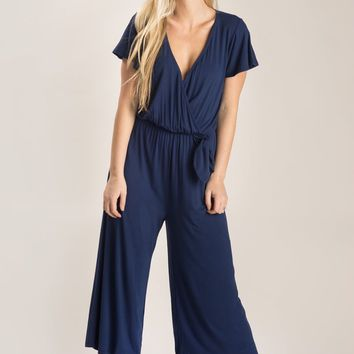 Elise Navy Jumpsuit