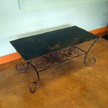 Spiral Coffee Table of Steel by deliafurniture on Etsy