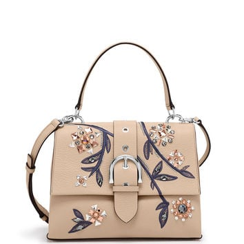 Riverside Top Handle Embellished Satchel Handbag | Henri Bendel