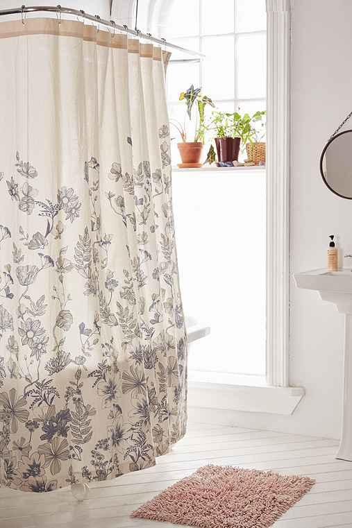 Plum Bow Scattered Flowers Shower Curtain