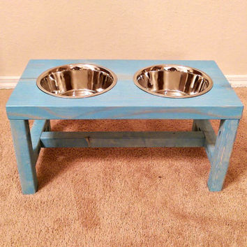 Dog Bowl Stand Large Farmhouse Style Rustic