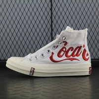 Converse Kith x Coca-Cola x Converse Chuck Taylor All Star 1970s Fashion Canvas Flats Sneakers White