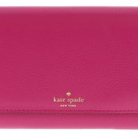 Kate Spade Grey Street Callie Pebbled Leather Wallet Clutch Purse
