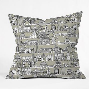 Sharon Turner Los Angeles Linen Throw Pillow